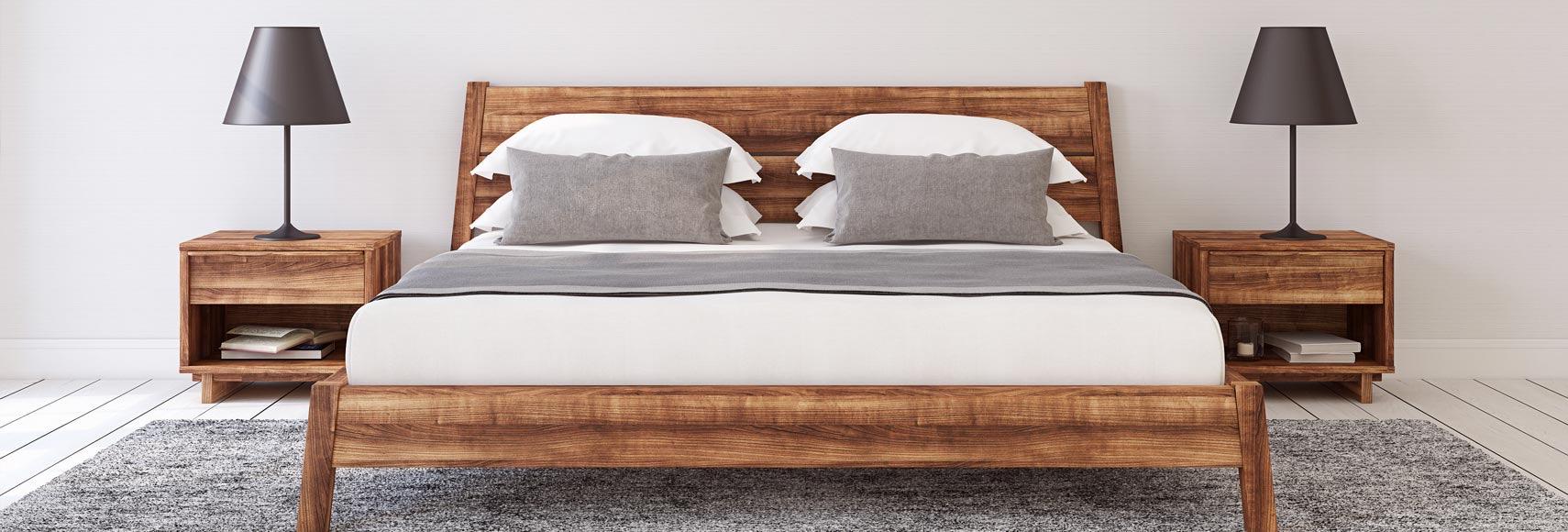 massief houten bed kopen online